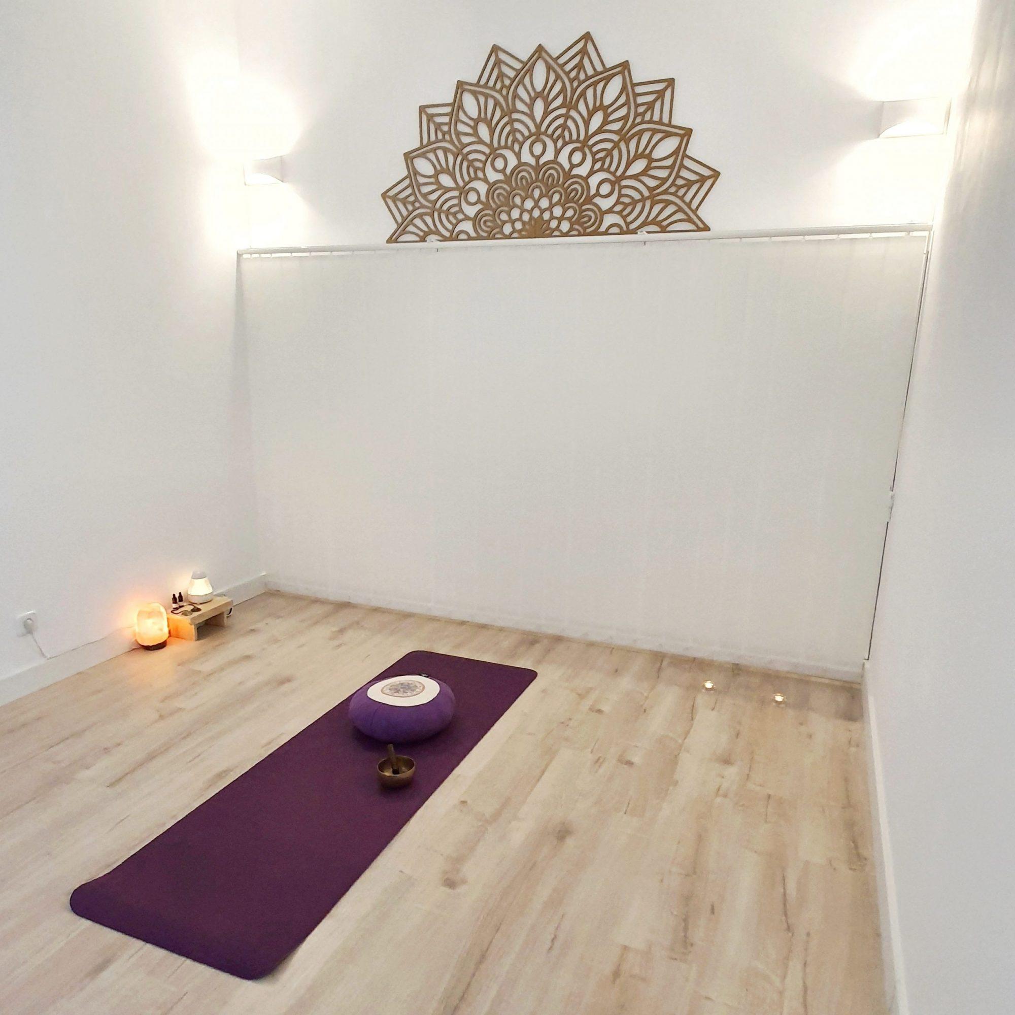 Foto sala meditación centro Espiral